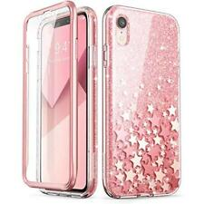 iPhone XR Glitter Case Screen Protector Shockproof Cover Slim Bumper Stars Pink