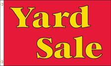 Yard Sale Flag 3x5 ft Advertising Sign Red Estate Garage Flea Market Moving