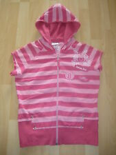 Womens Size 14 Pink Striped Hooded Top by Next