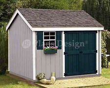 Shed Plans 8 x 10 Storage Utility Garden Building  Blueprints Design #10810