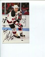 Stephane Richer New Jersey Devils Montreal Canadiens Stanley Cup Signed Photo