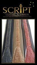 Croc Style Leather Soft Padded  Electric, Acoustic, Bass, Classical Guitar Strap