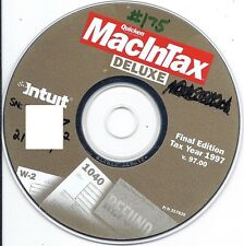 Intuit Quicken MacInTax Deluxe 1997 Final Edition v. 97.00 Mac CD