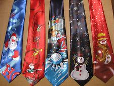 MENS CHRISTMAS NECK TIE SNOWMAN GOLFER HO HO HO FANCY DRESS OFFICE PRESENT NEW