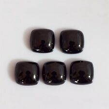 10 PCS LOT TOP QUALITY BLACK SPINEL 12X12 MM CUSHION LOOSE GEMSTONE CABOCHON