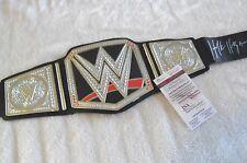 HULK HOGAN SIGNED IN PERSON RELICA TOY WWF CHAMPIONSHIP BELT JSA WITNESSED COA