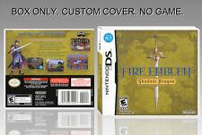 NINTENDO DS : FIRE EMBLEM SHADOW DRAGON. UNOFFICIAL COVER. ORIGINAL BOX. NO GAME