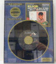 Elvis collectors plaque w/45 RPM of Blue Christmas & Santa Claus is Back in Town