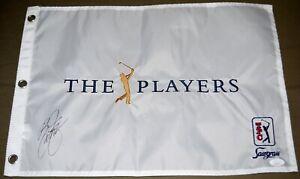 Rickie FOWLER Signed PLAYERS CHAMPIONSHIP Pin Flag - 2015 Champion JSA