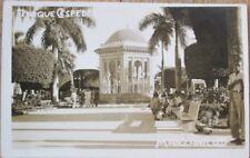 Manzanillo, Granma, Cuba 1930s Realphoto Postcard: Parque Cespedes