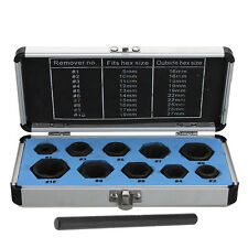 11Pcs/Set (9-19mm) Damaged Nut Bolt Stud Extractor Locking Socket Remover Tools