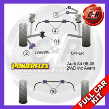 Audi A4 (B7) inc. Avant (05-08) (2WD) Powerflex Complete Bush Kit