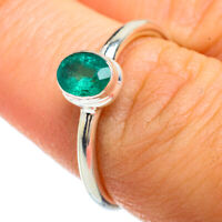 Zambian Emerald 925 Sterling Silver Ring Size 7.5 Ana Co Jewelry R42196F