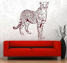 Wall Vinyl Sticker Leopard Gepard Cheetah Jungle African Ethnic Decor z3665
