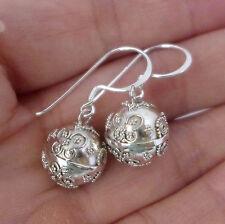 12mm sterling silver butterfly harmony ball earring jingle muscial chime earring
