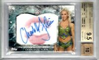2018 Topps WWE Wrestling CHARLOTTE FLAIR Kiss AUTOGRAPH 09/25 BGS 9.5 10 AUTO