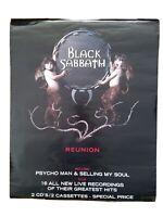Ozzy Osbourne BLACK SABBATH Rare 1998 DOUBLE SIDED PROMO POSTER Reunion vintage