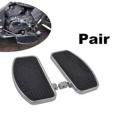 1Pair Adjustable Motorcycles Front Rider Floorboards Pedals Metal Steel & Rubber