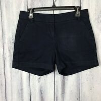 J. Crew Shorts Size 2 Chino 100% Cotton Dark Blue Womens