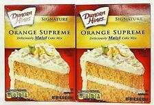 Duncan Hines Signature Orange Supreme Cake Mix 16.5 oz Box - 2 Boxes