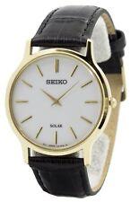81056f8b32c4c Reloj Seiko Solar esfera blanca correa SUP872P1 SUP872P hombres de cuero