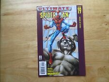 2002 ULTIMATE SPIDER-MAN # 19 MARY JANE & DOC OCK SIGNED MARK BAGLEY WITH POA