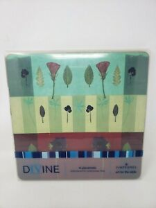 PIMPERNEL Divine Wildflower Study Cork Placemats Set of 4 Square England Art