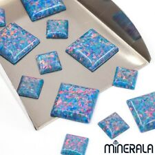 [WHOLESALE] SYNTHETIC OPAL FIRE TURQUOISE SQUARE CABOCHON VARIOUS SIZE