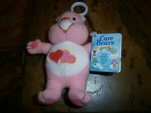 CARE BEAR SOFT KEY RING/CLIP ON LOVE A LOT