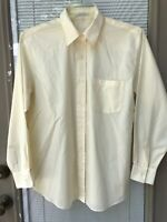 Foxcroft top blouse Yellow Wrinkle Free Size 12 Cotton Blend Long Sleeve