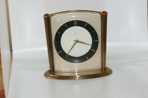 Uhr Tisch Uhr JUNGHANS Messing 70er Jahre