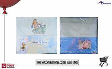 Disney Classic Pooh Winnie the Pooh Brushed Cot-Crib Blanket Nursery Rhyme BNWT