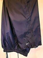 Vintage 90s Nike Navy White Swoosh Nylon Track Workout Pants Mens Sz L Large