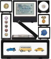 Schweberahmen MAGIC FRAME für Uhren Schmuck Münzen Banknoten Karten Leuchtturm