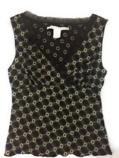Max Studio Womens Sexy Sleeveless Tank Shirt Top Size Small S Brown Beige