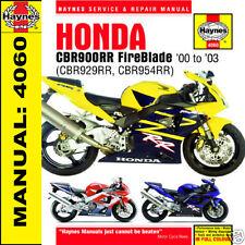 honda cbr900 cbr900rr fireblade 2000-2003 haynes manual 4060 new