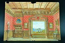 PROJET DECOR THEÂTRE Dessin Original OPERETTE Atelier GANNE Château Renaissance