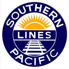 Southern Pacific Reproduction Railroad Metal Sign 30x30 Round