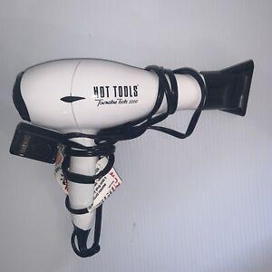 Hot Tools Nano Ceramic Tourmaline 2000 Salon Turbo Ionic Dryer Model No. 1043WH