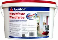 Baufan Waschfeste Wandfarbe 10 l weiß Innen-Wandfarbe waschfeste Innenfarbe