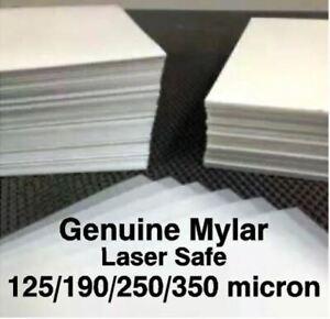 GENUINE MYLAR Polyester Stencil Sheets 125/190/250/350 micron Laser Safe A3/A4