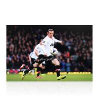 Wayne Rooney Hand Signed Photo - Half Way Line Goal v West Ham Autograph