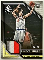 2015-16 Limited Kristaps Porzingis RC #d 22/25 Prime Patch Glass Cleaners Knicks