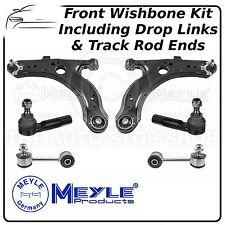 VW Bora Meyle Front Lower Control Arm Wishbone, Drop Link & Track Rod End Kit