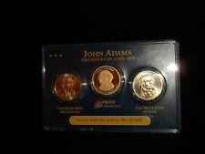 2007 Presidential gold dollar coin set John Adams (S proof) (D P uncirculated)