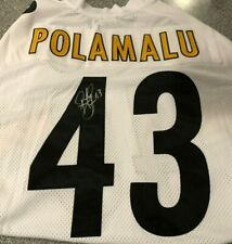 Troy Polamalu SIGNED Jersey Football Pittsburgh Steelers MINT Steelers Charities