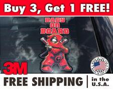 Deadpool Baby On Board Decal/Sticker, Baby Deadpool Bumper Sticker, Deadpool