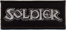 Soldier-logo patch EMBROIDERED écusson Brodés NWOBHM