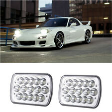"2Pcs 7""X6'' LED Headlight Hi/Lo Sealed Beam H6014 H6052 H6054 Fit For B2200 RX-7"