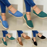 Women Espadrilles Slip On Casual Loafers Flat Pumps Casual Single Shoes Mules